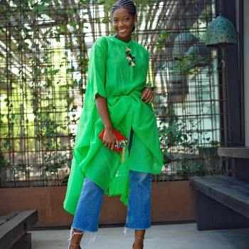 Outfit Inspiration - Afua Rida is Kaftan Casj in this Look