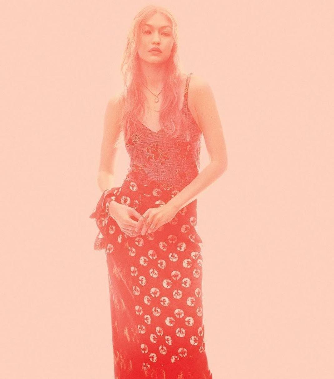 Gigi Hadid In Lisa Folawiyo Studio For Vogue's September Issue