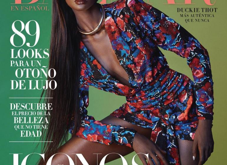 Duckie Thot is Stunning On The September Cover Of Harper's Bazaar en Español