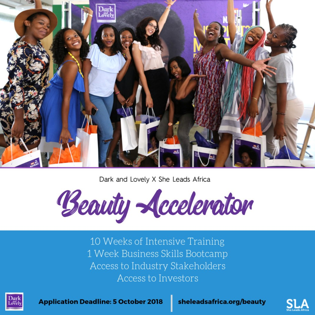 Dark And Lovely x She Leads Africa Beauty |Beauty Accelerator Program