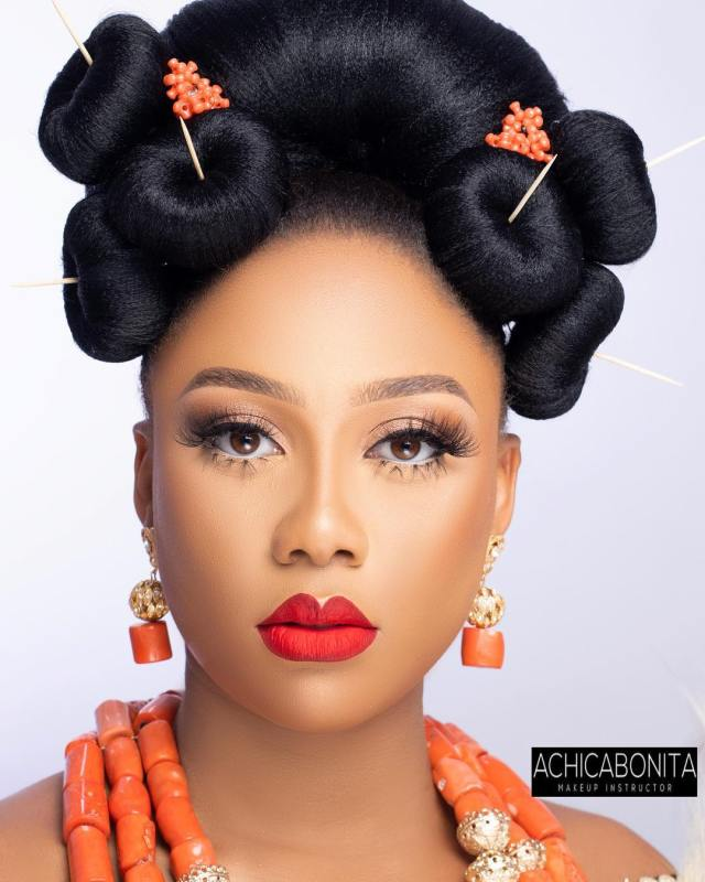 you've got to see this 3 mini bun trad hairstyle for igbo brides