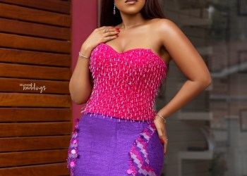 Ghanaian Brides-to-be! Be Pink & Pretty Like Joselyn Dumas in these Kente Designs