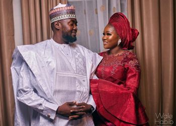See this Loved Up Moment between Ruqayya & Zaraki at their Wedding