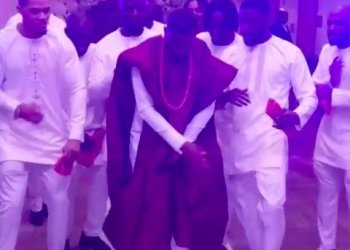 This Groom Came Through with all the  Moves at His Trad