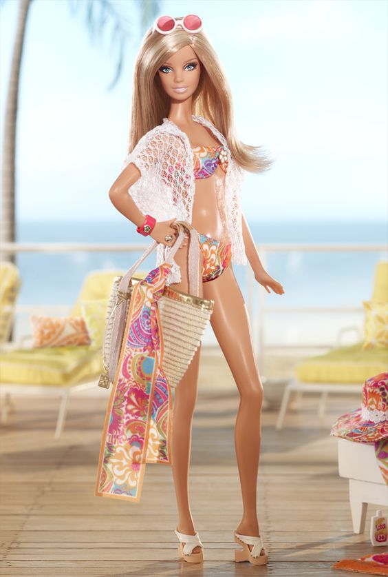 Barbie on the beach