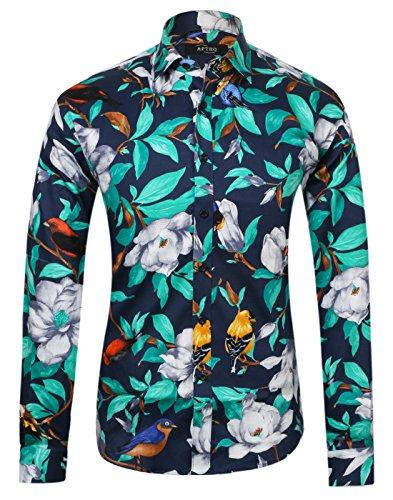 Lutratocro Men Juniors Slim Plaid Long Sleeve Button Down Shirt