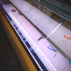 syocase2 - 洋菓子専用対面ショーケースにLED照明増設 DIY設置