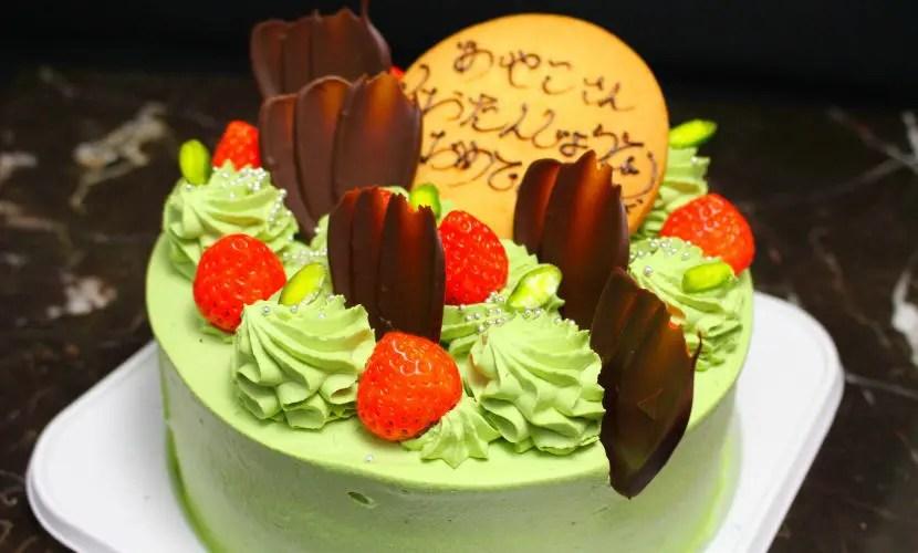 deco3 - 抹茶クリームのデコレーションケーキ