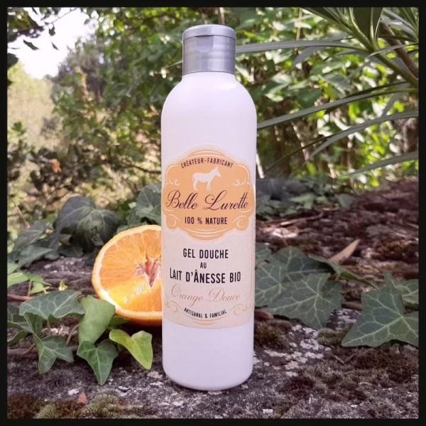Gel douche à l'orange douce