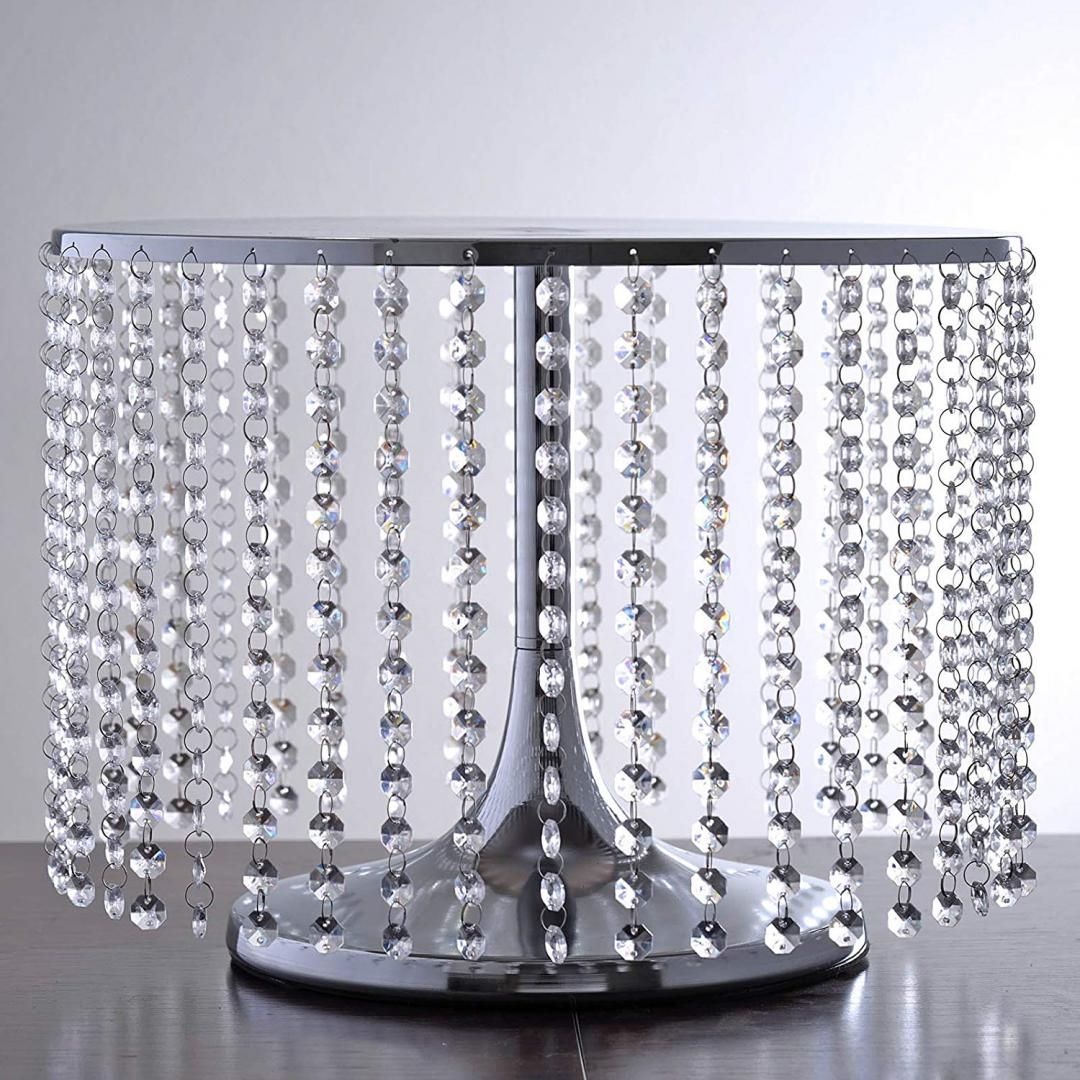 Square Wedding Cake Stand 12 Inch Silver Belle Amor