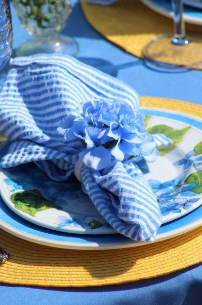 Belle Bleu Interiors Hydrangea Tablescape 13