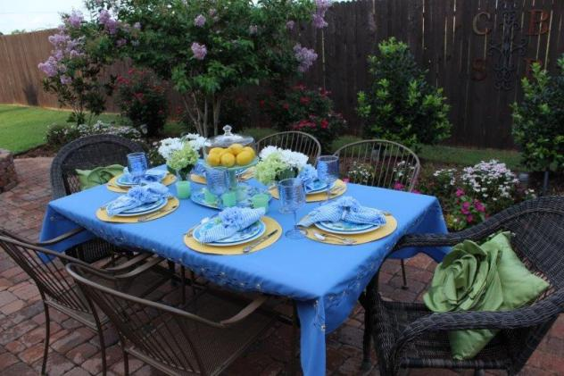 Belle Bleu Interiors Hydrangea Tablescape 5
