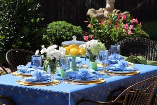 Belle Blue Interiors Hydrangea Tablescape 15