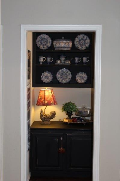 This is the entry into the butler's pantry.