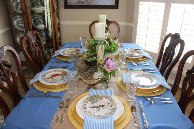 Belle Bleu Interiors Bird Tablescape 14
