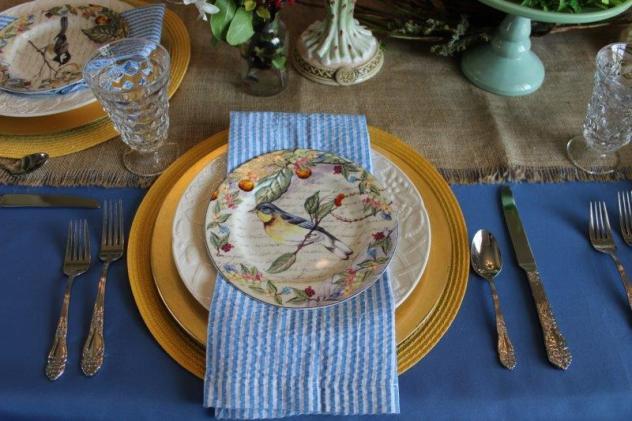 Belle Bleu Interiors Bird Tablescape 4