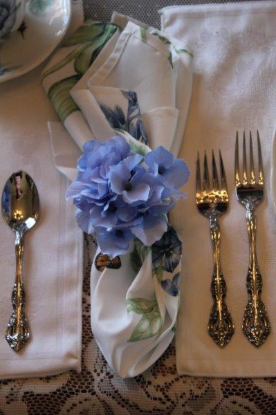 Belle Bleu Interiors Blue Butterfly Meadow Tablescape 9