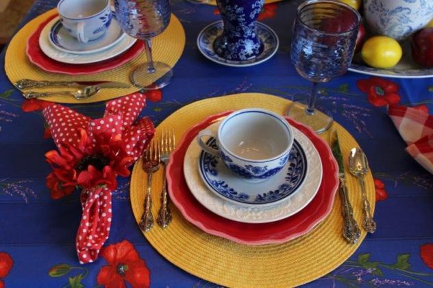 Belle Bleu Interiors Colorful Tablescape 10