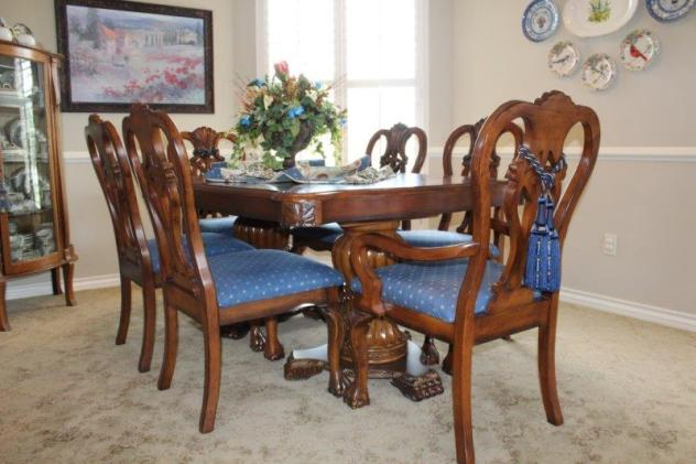 Belle Bleu Interiors Dining Room 17