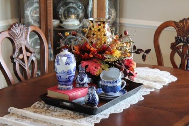 Belle Bleu Interiors Fall Dining Room