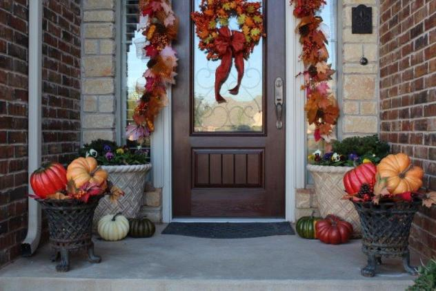 Belle Bleu Interiors Fall Front Porch 5