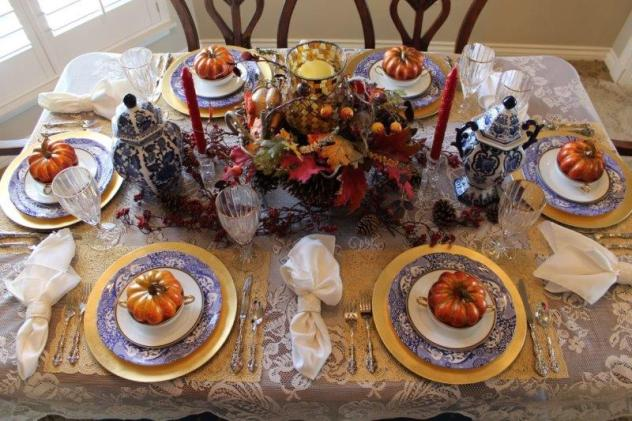 Belle Bleu Interiors Fall Tablescape 10