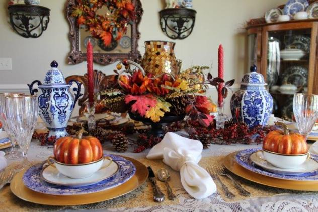 Belle Bleu Interiors Fall Tablescape 17