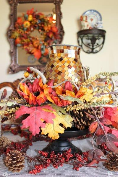 Belle Bleu Interiors Fall Tablescape 5