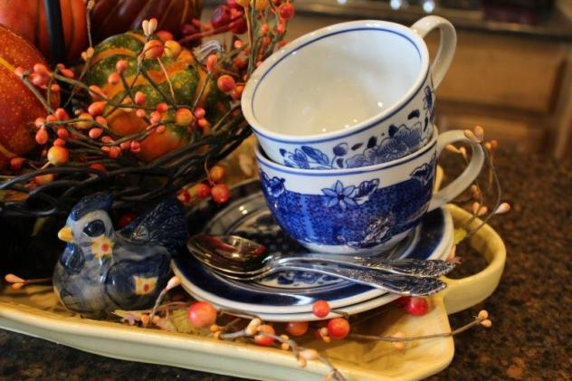 Belle Bleu Interiors Fall Tiered Tray 1