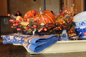 Belle Bleu Interiors Fall Tiered Tray 11