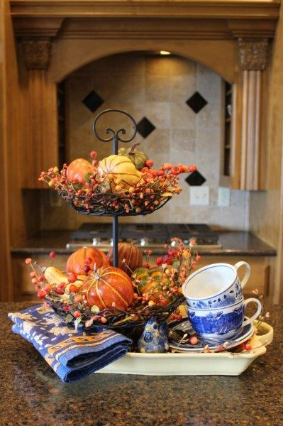 Belle Bleu Interiors Fall Tiered Tray 5
