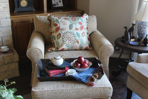 Belle Bleu Interiors French Country Living Room Fall Tour 13