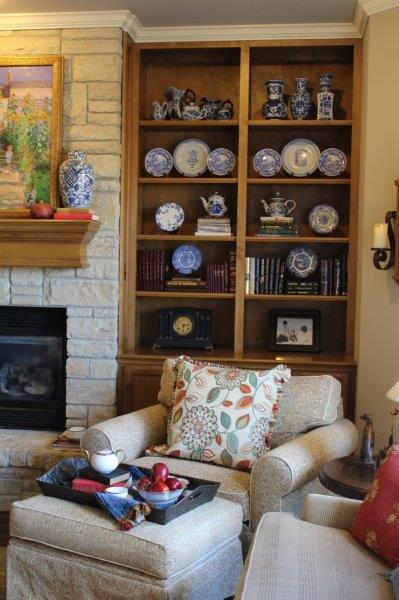 Belle Bleu Interiors French Country Living Room Fall Tour 15
