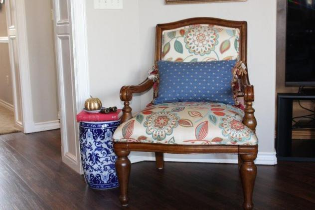 Belle Bleu Interiors French Country Living Room Fall Tour 24