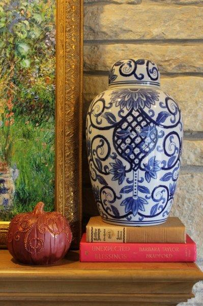 Belle Bleu Interiors French Country Living Room Fall Tour 9