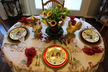 Belle Bleu Interiors Rooster Tablescape 4