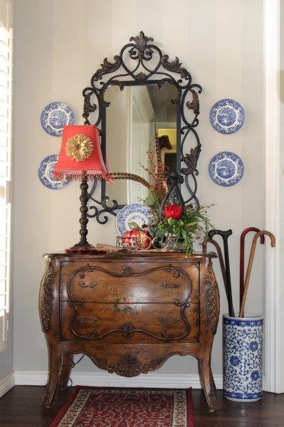 Belle Bleu Interiors Fall Entry Hall 7