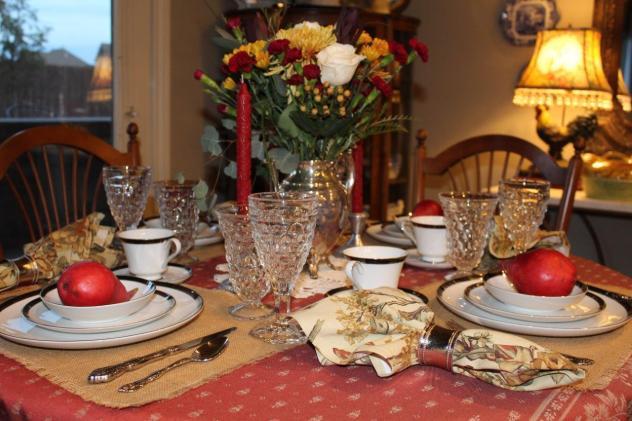 Belle Bleu Interiors Romantic Autumn Tablescape 5