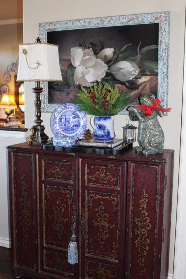 Belle Bleu Interiors French Country Christmas Vignette 6