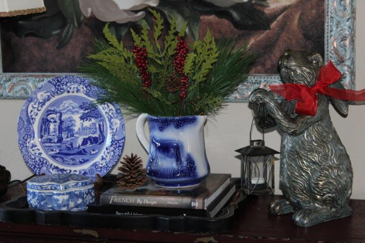 Belle Bleu Interiors French Country Christmas Vignette 7