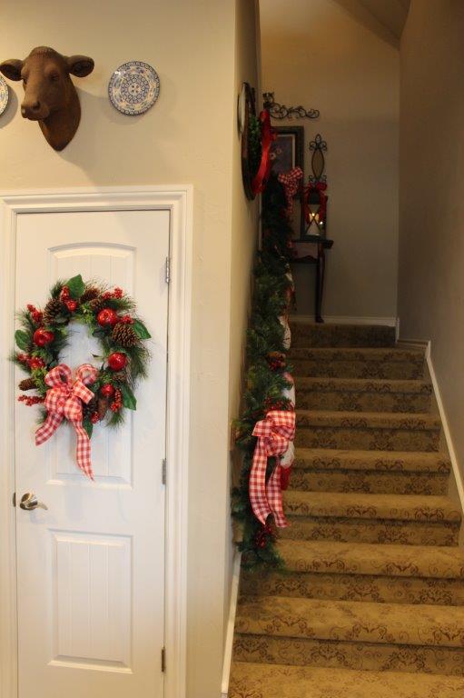 Belle Bleu Interiors Christmas Stairway 17