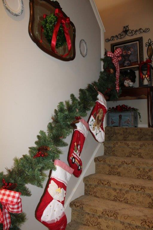 Belle Bleu Interiors Christmas Stairway 9