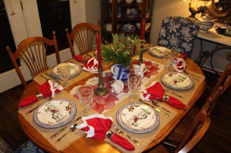 Belle Bleu Interiors Farmhouse Christmas Tablescape 2