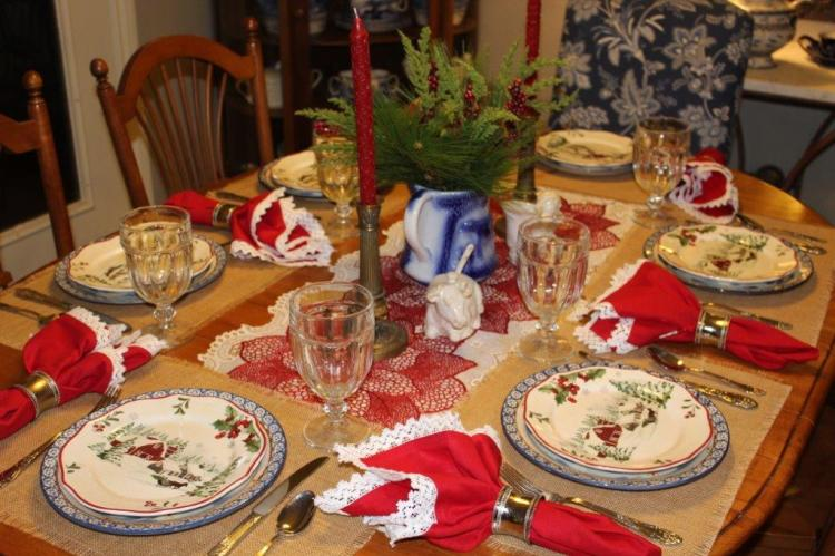 Belle Bleu Interiors Farmhouse Christmas Tablescape 5