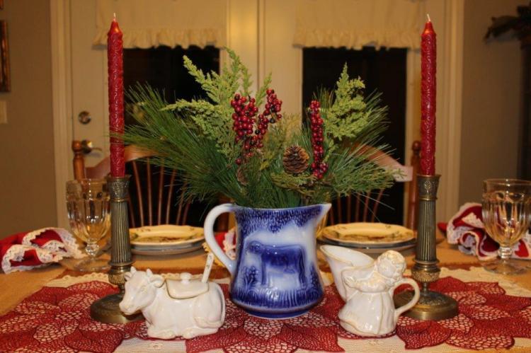 Belle Bleu Interiors Farmhouse Christmas Tablescape 9