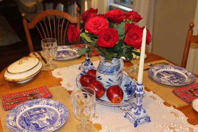 Belle Bleu Interiors Mr. Bleu's Birthday Dinner 10