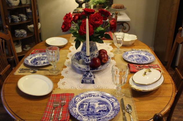 Belle Bleu Interiors Mr. Bleu's Birthday Dinner 4