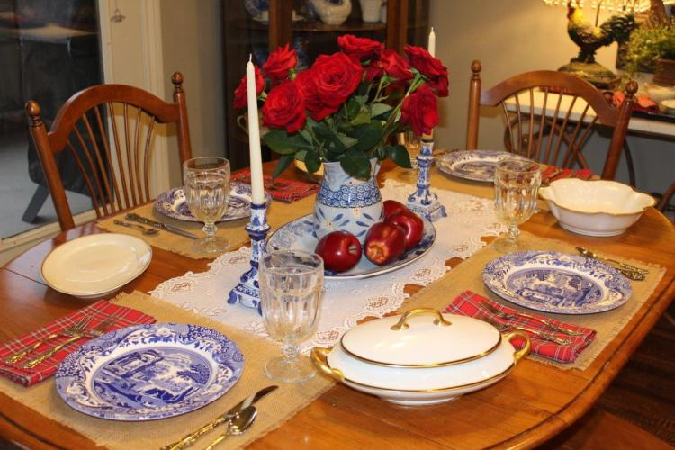 Tablescape Thursday:  Mr. Bleu's Birthday Dinner