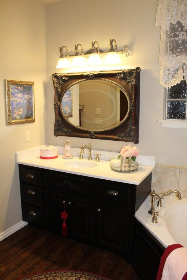 Belle Bleu Interiors French Country Master Bathroom 11