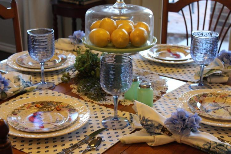 Belle Bleu Interiors Sunday Brunch Tablescape 1